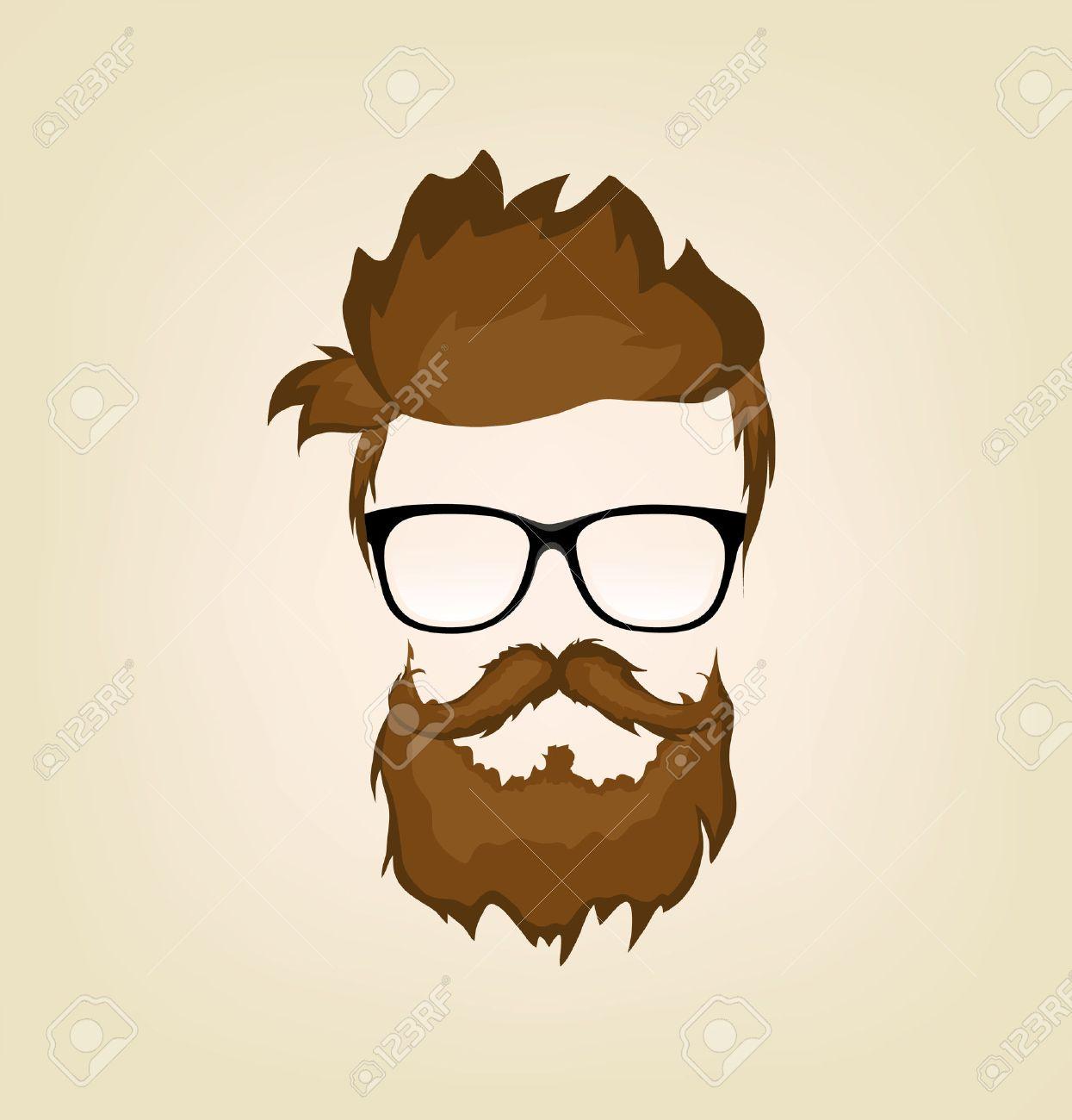 Vector - mustache  bea...