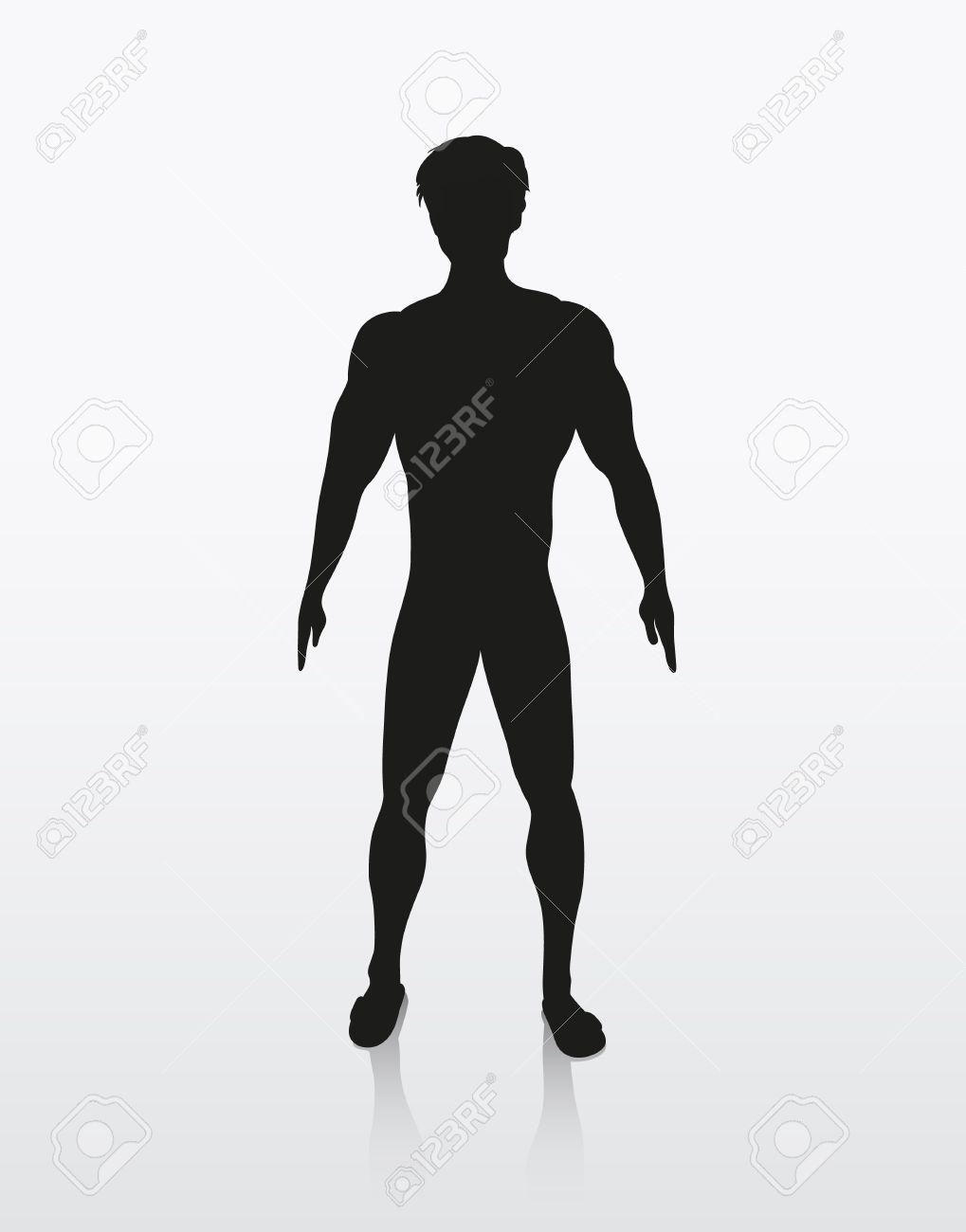 人間の体のシルエット イラスト ロイヤリティフリークリップアート