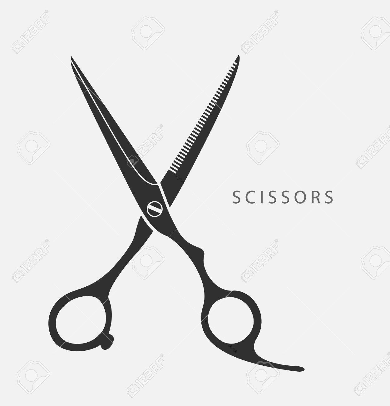 Hair Cutting Scissors Vector 16