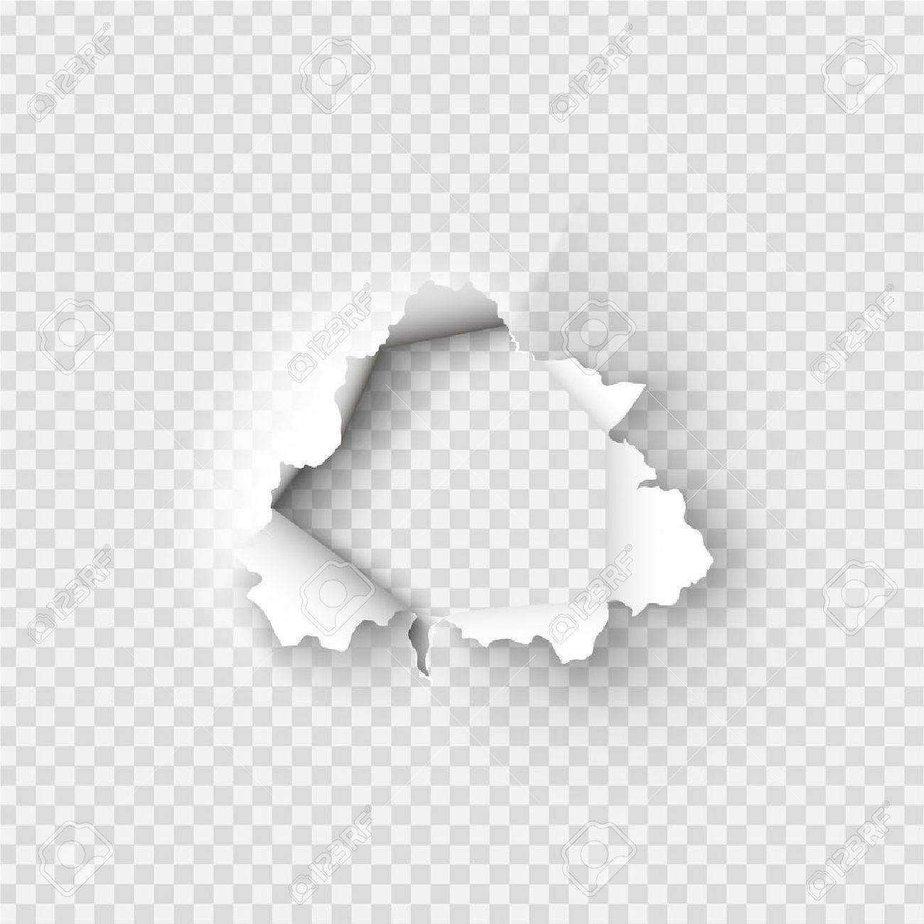 holes torn in paper on transparent background royalty free cliparts