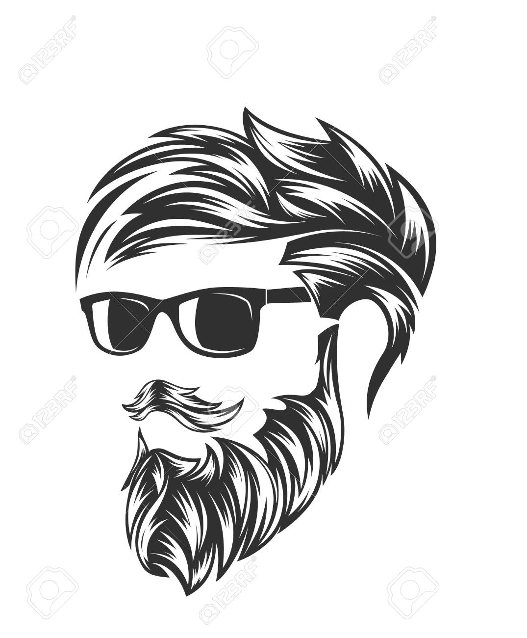 mens hairstyles and hirecut with beard mustache - 106902899