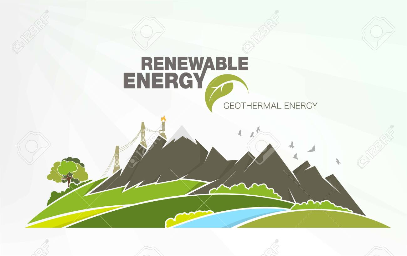 renewable energy infographics with elements of the water of the sun wind and earth - 149566862