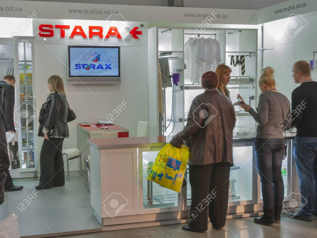 Exhibition Booth Accessories : Visitors visit starax furniture accessories turkish company booth