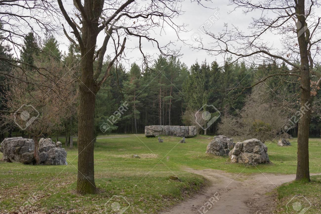 Concrete ruins of Adolf Hitler residence Werwolf near Vinnitsa, Ukraine Stock Photo - 27574302