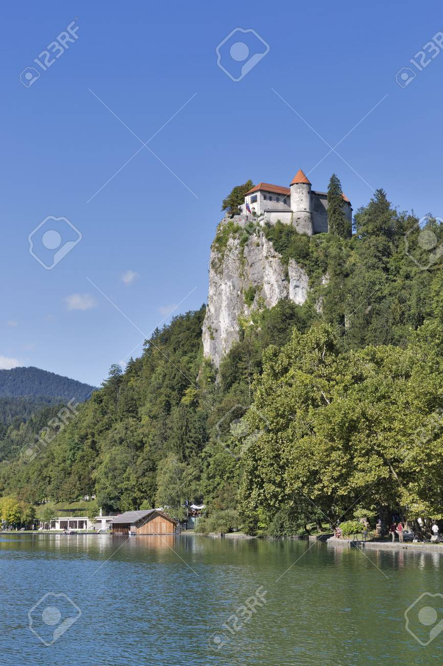 Bled Slovenia September 07 2015 People Walk Along Bled Lake