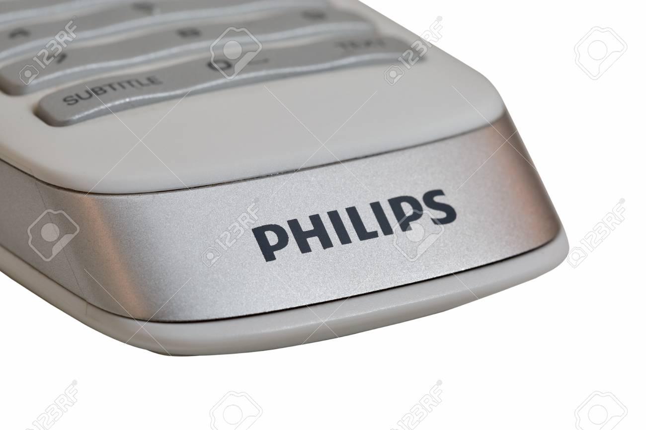 KIEV, UKRAINE - APRIL 17, 2016: Logo Philips on modern smart