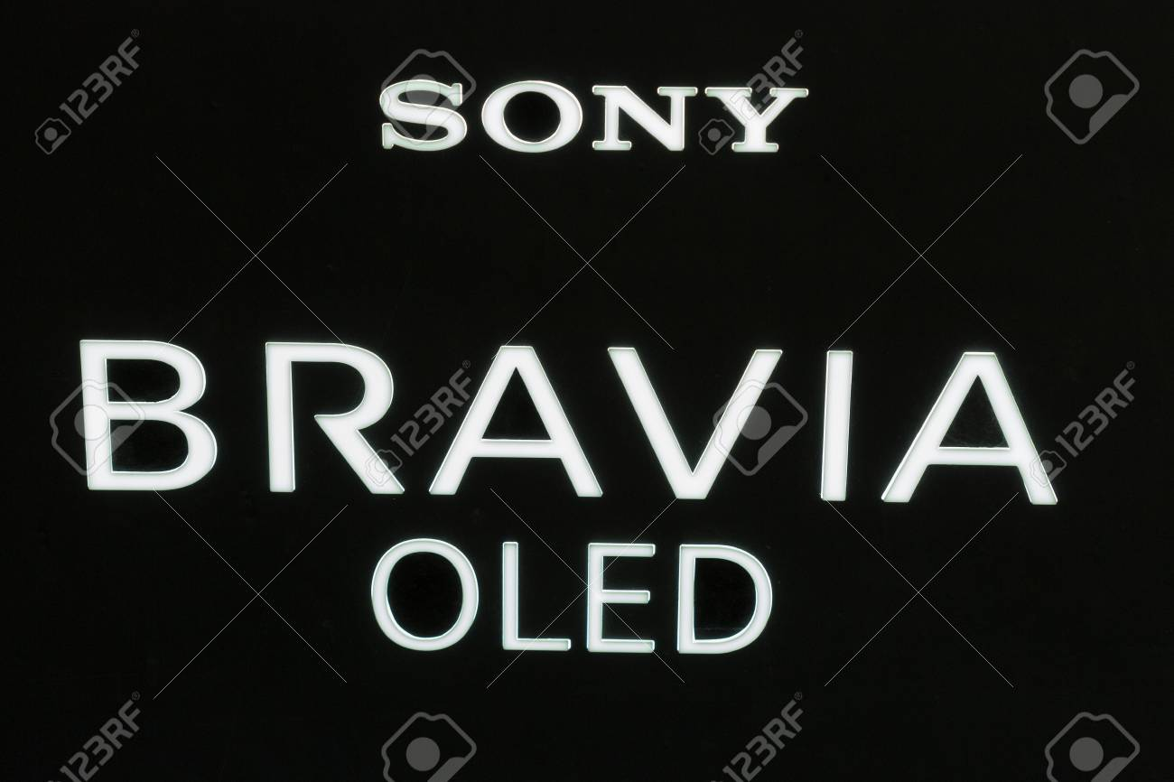 KIEV, UKRAINE - OCTOBER 08, 2017: Sony Bravia OLED, electronics