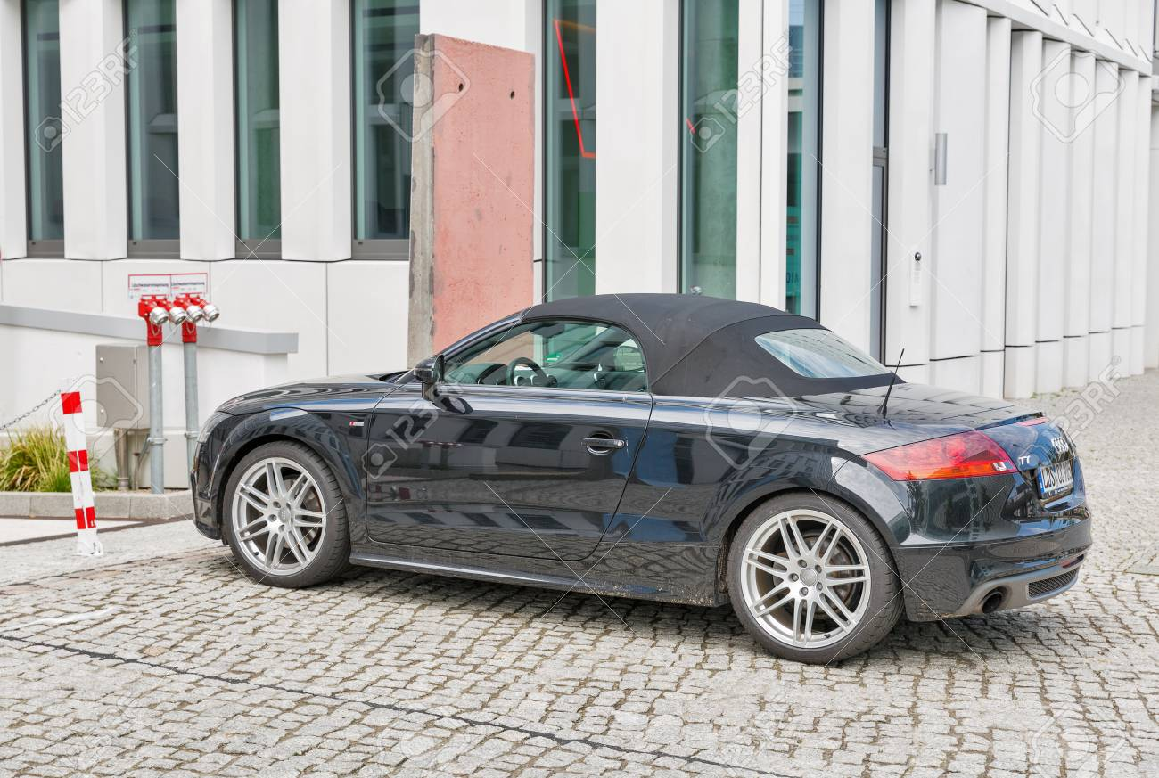 Berlin Germany July 13 2018 Black Audy Tt 2 Door Sports Stock Photo Picture And Royalty Free Image Image 113516700