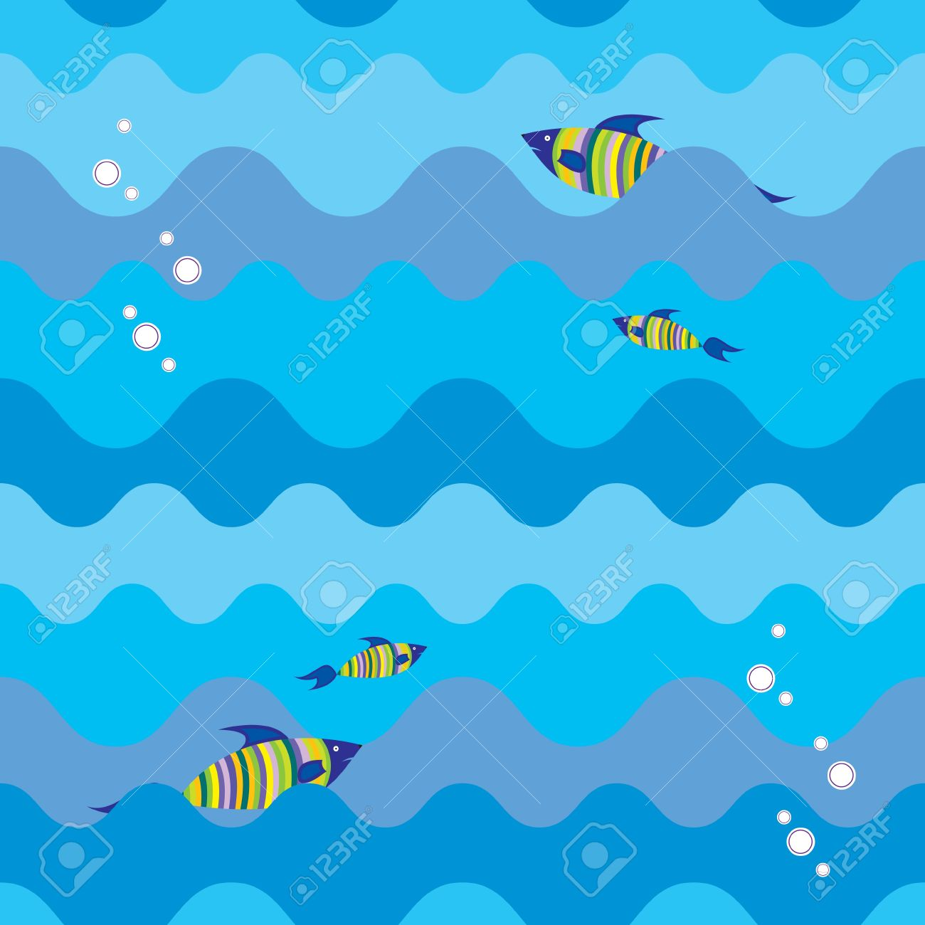 seamless texture with marine fish Stock Vector - 9287928