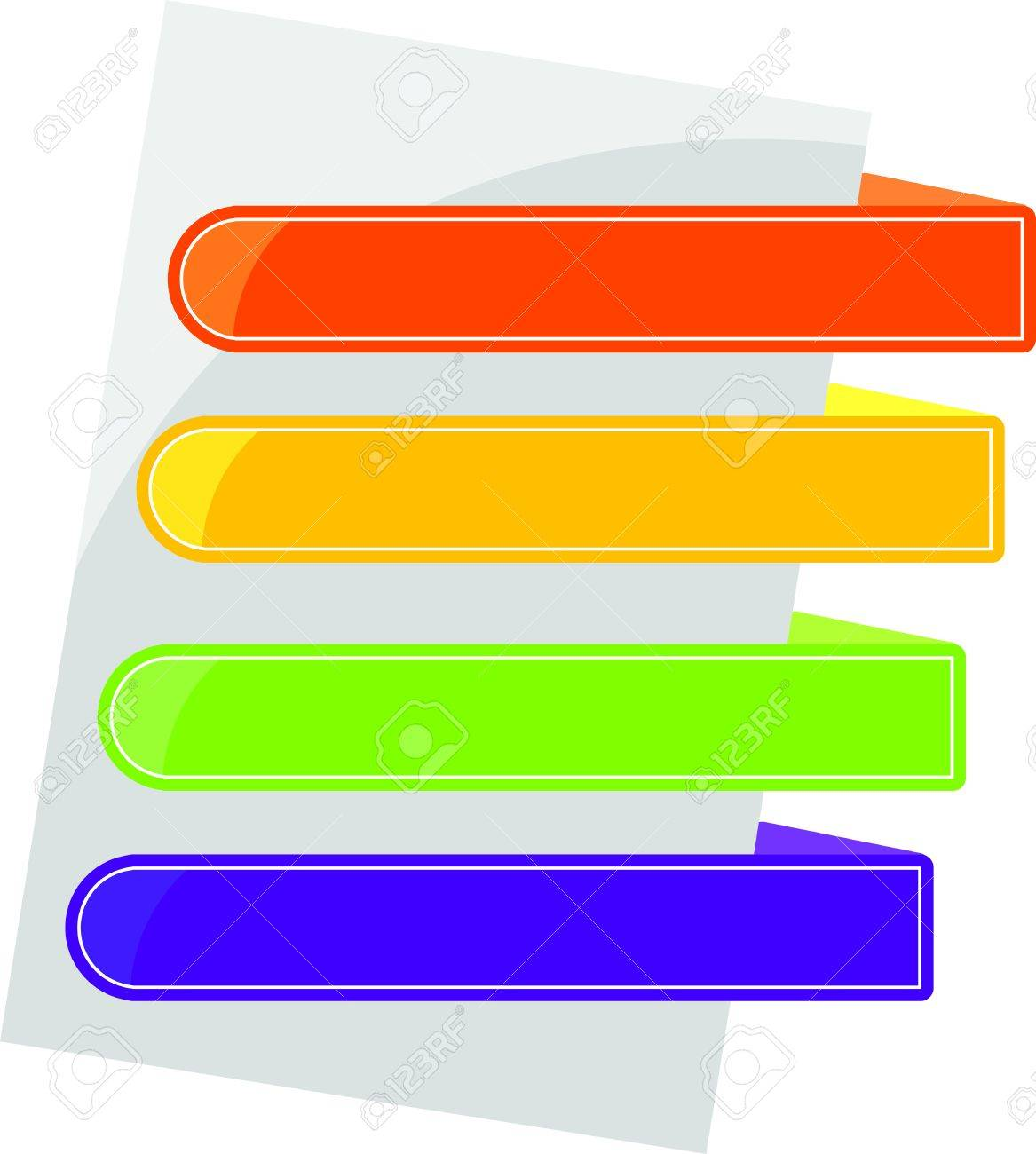 colored tabs on the blank page - 10320957