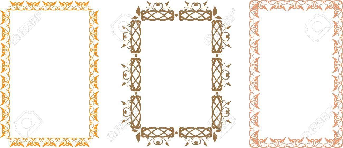 Set Of Slavic Floral Frames Royalty Free Cliparts, Vectors, And ...