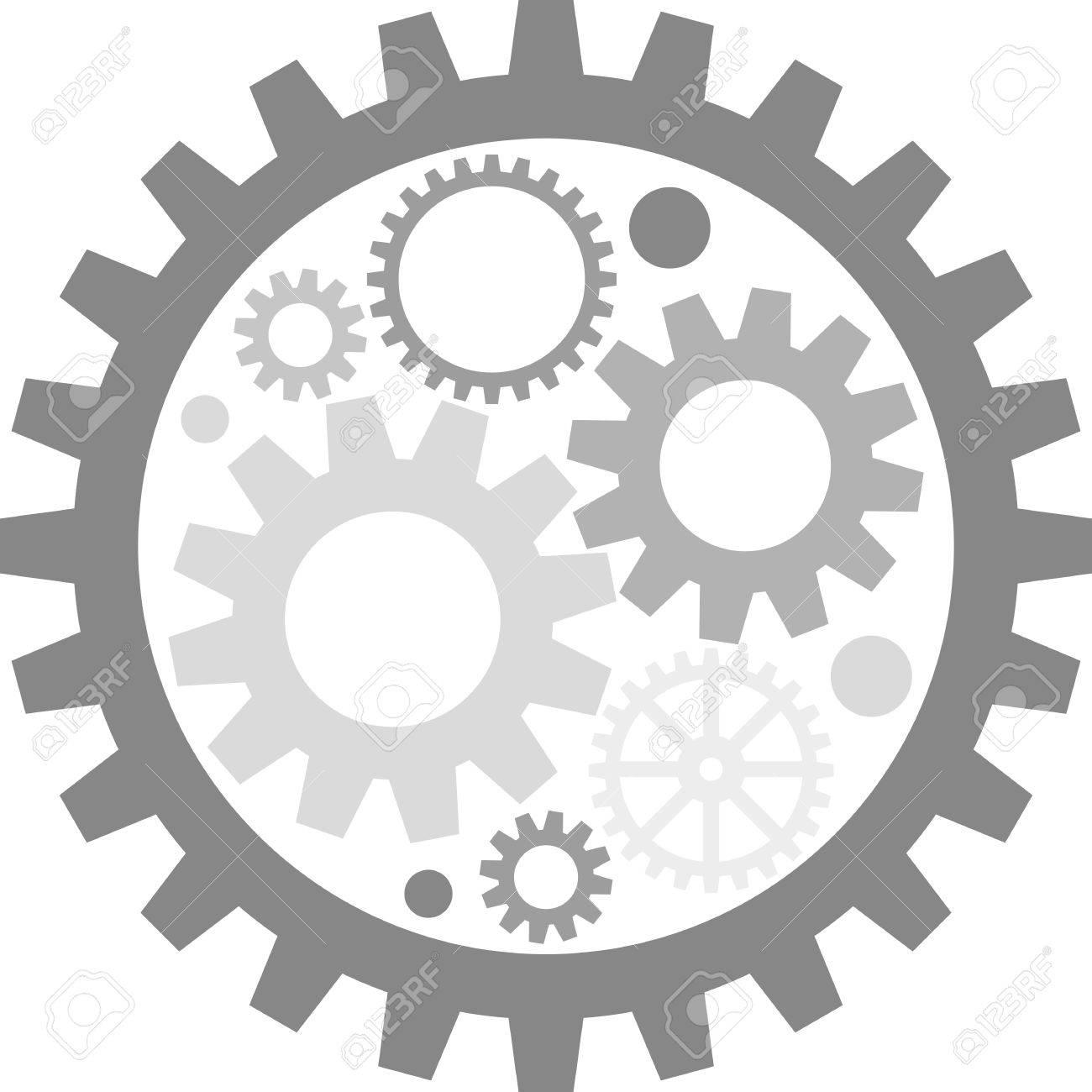 flat image of metal gears - 44580427