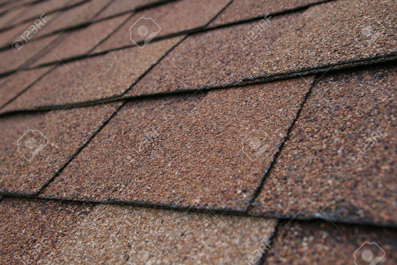 Closeup Detail Of Brown Roof Shingles Stock Photo   3528918