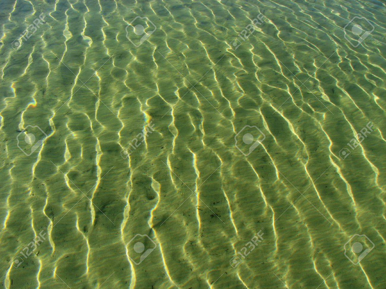 rippled background from the refraction of sunlight in shallow water Stock Photo - 3608691