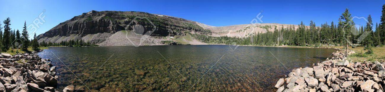 panorama of Dean Lake in four lakes basin, Uinta mountains, Utah Stock Photo - 3615589