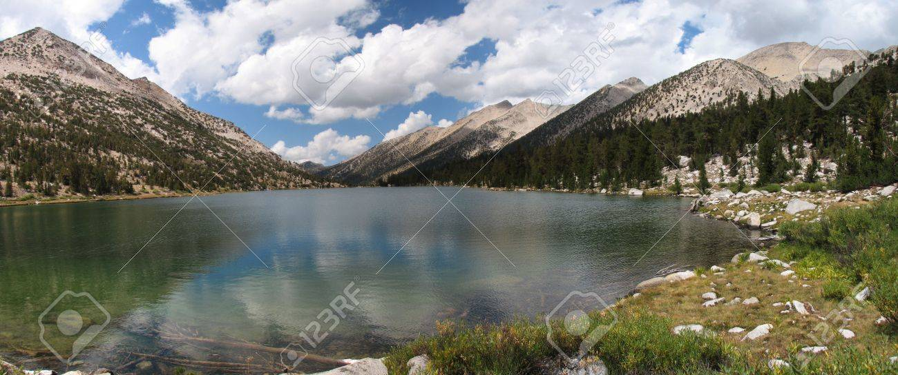panorama of Charlotte Lake in Kings Canyon National Park, California Stock Photo - 3659529
