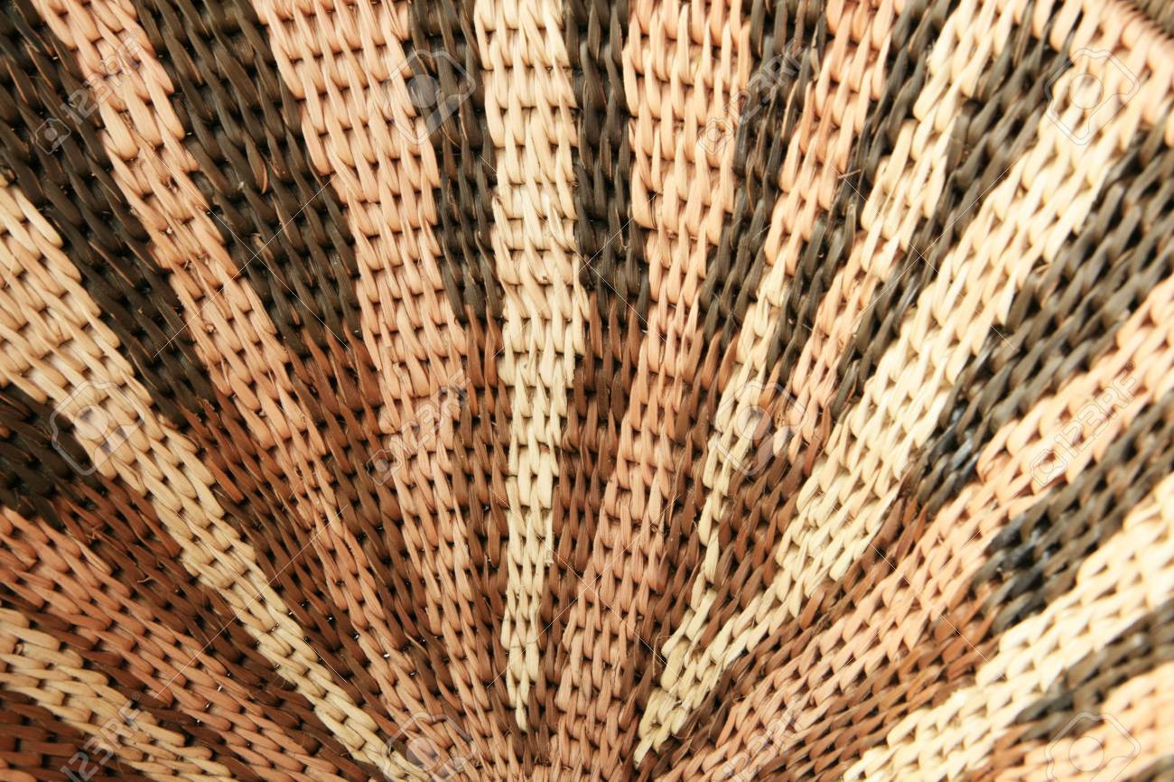close up of the interior of an African basket showing the design Stock Photo - 3740619
