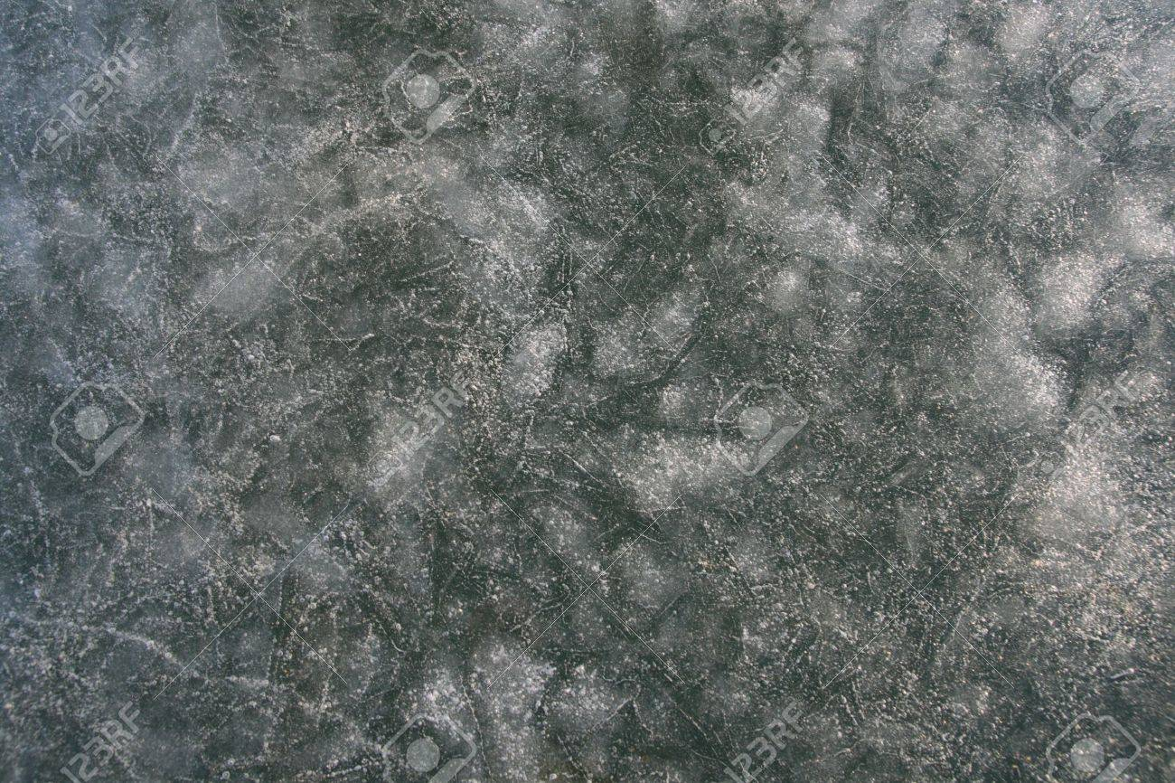 ice surface texture background from frozen lake Stock Photo - 4462457