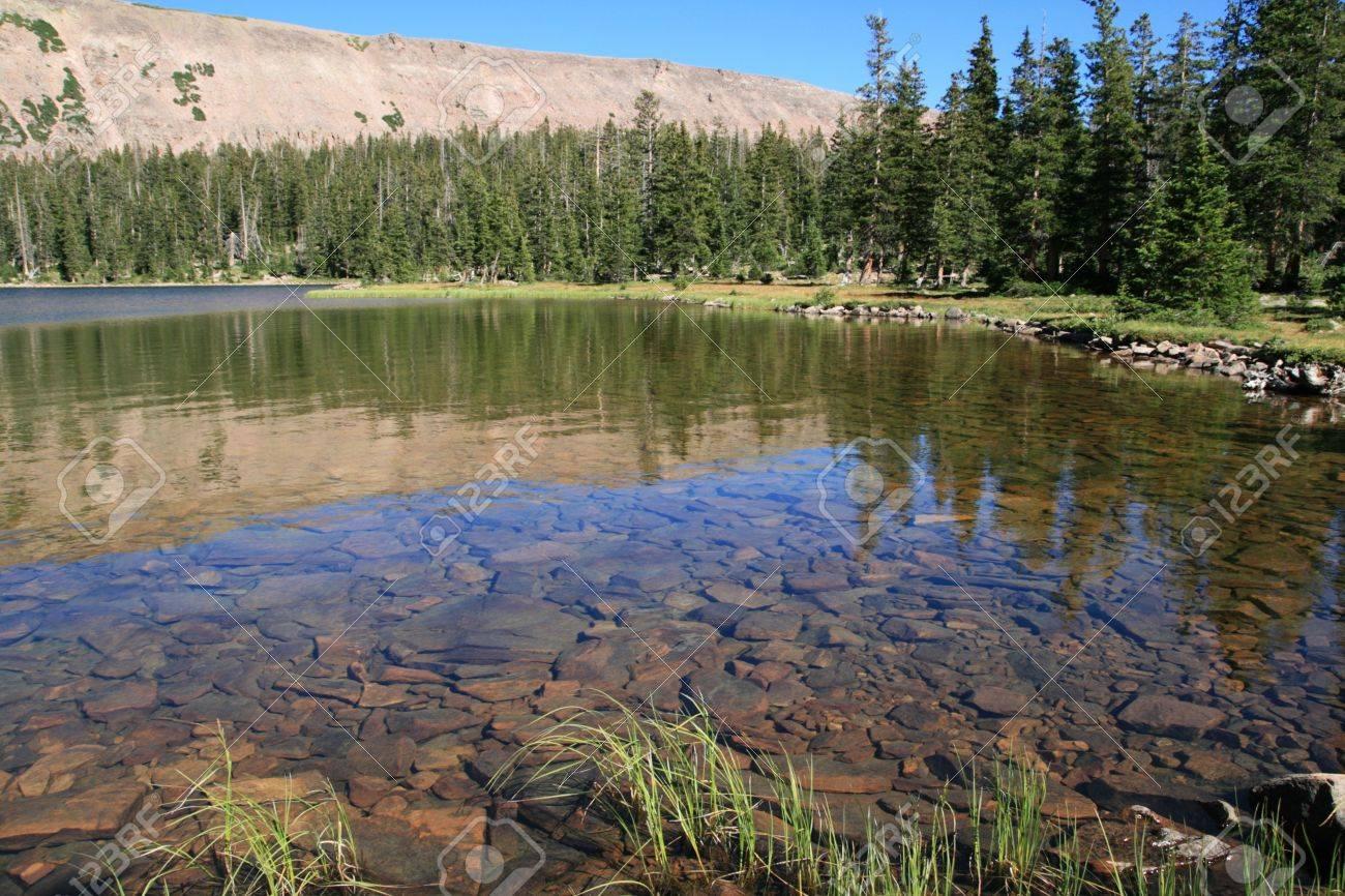 Dean Lake in Four Lakes Basin of the High Uinta Mountains Stock Photo - 4491486