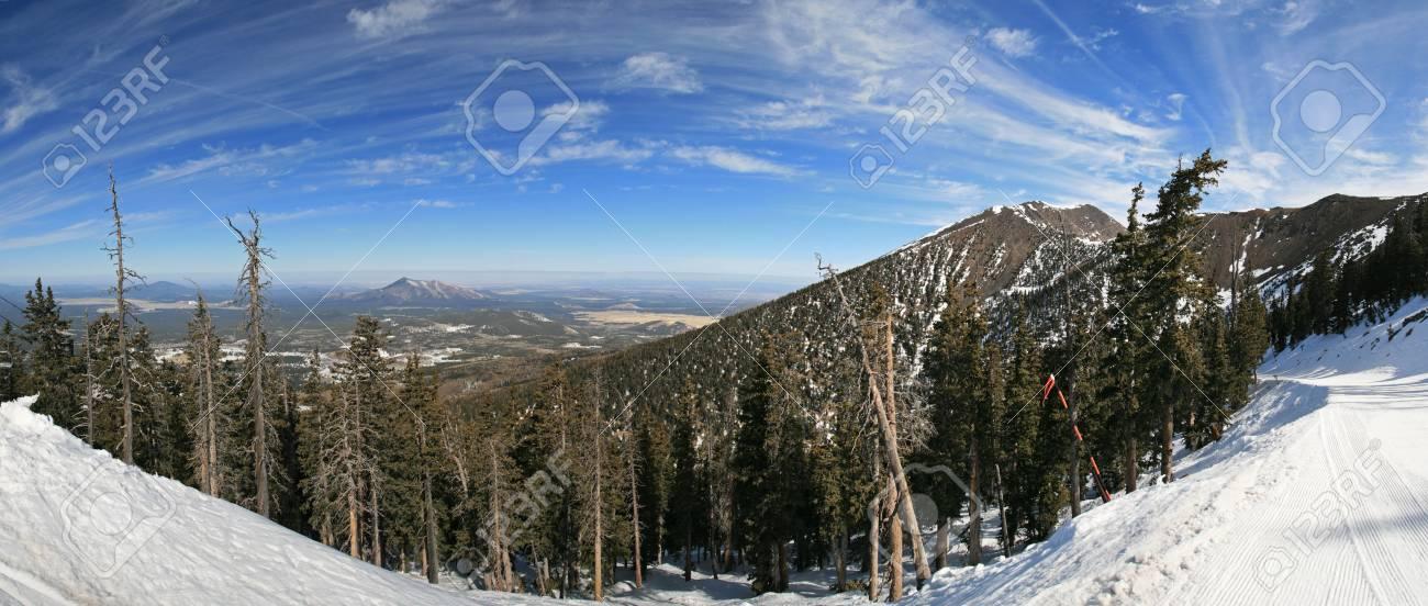 Panorama of the Arizona Snowbowl including Mount Humphreys Stock Photo - 4554727