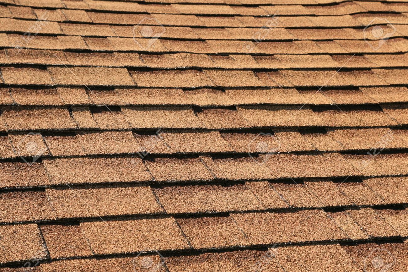 Horizontal Background Of Brown Roof Shingles Stock Photo   4911084