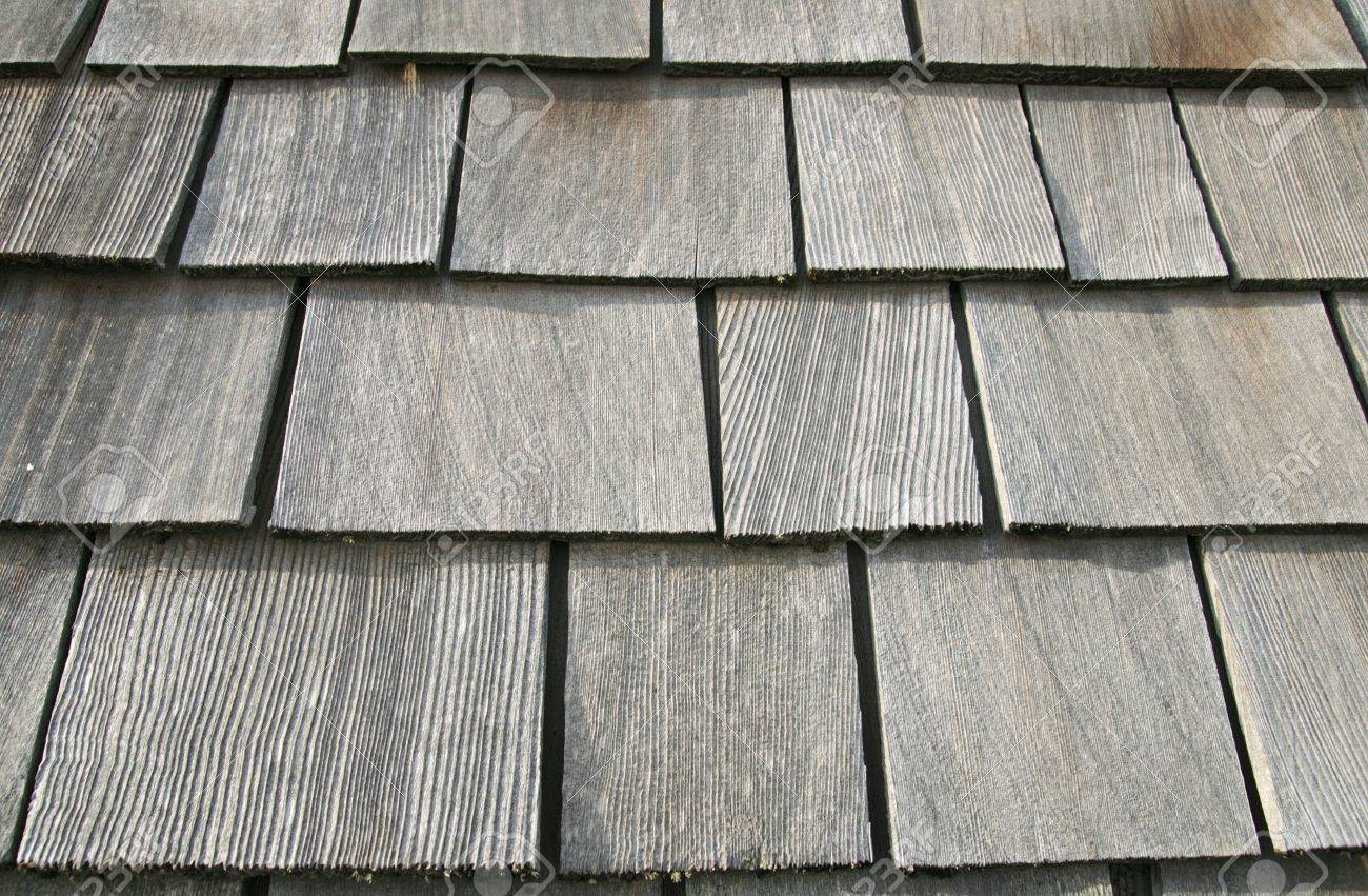 Old Gray Wooden Roof Shingles On An Old Barn Stock Photo   5514369