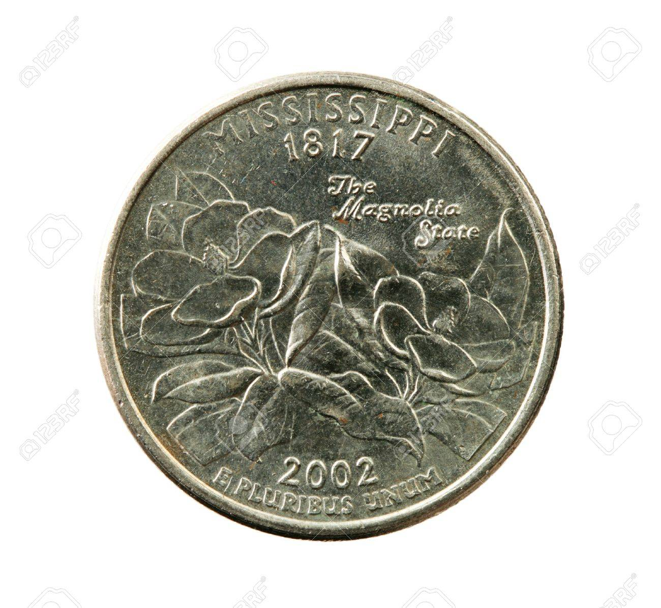 Mississippi state quarter coin isolated on white background Stock Photo - 7461597