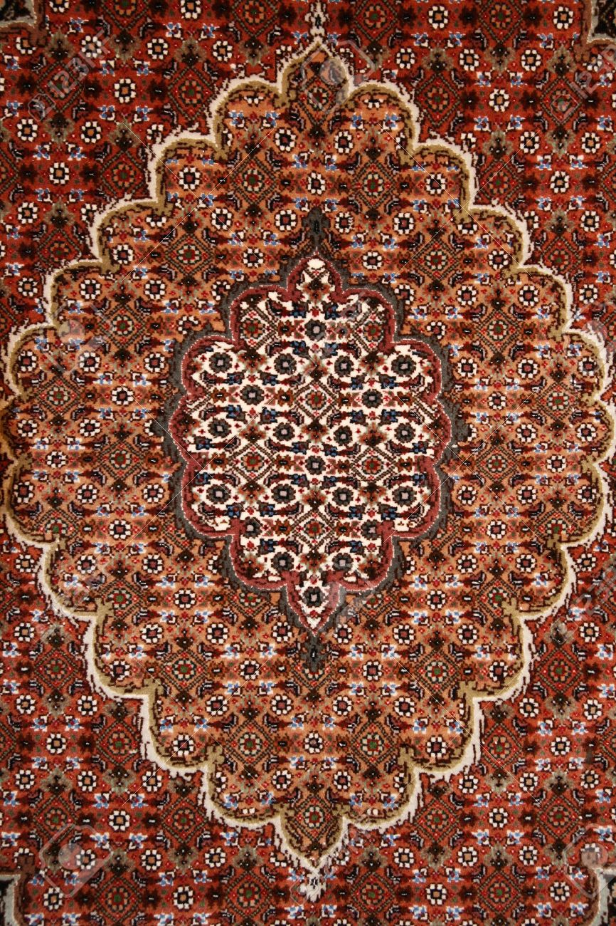 Fine Red Persian Carpet Background Texture