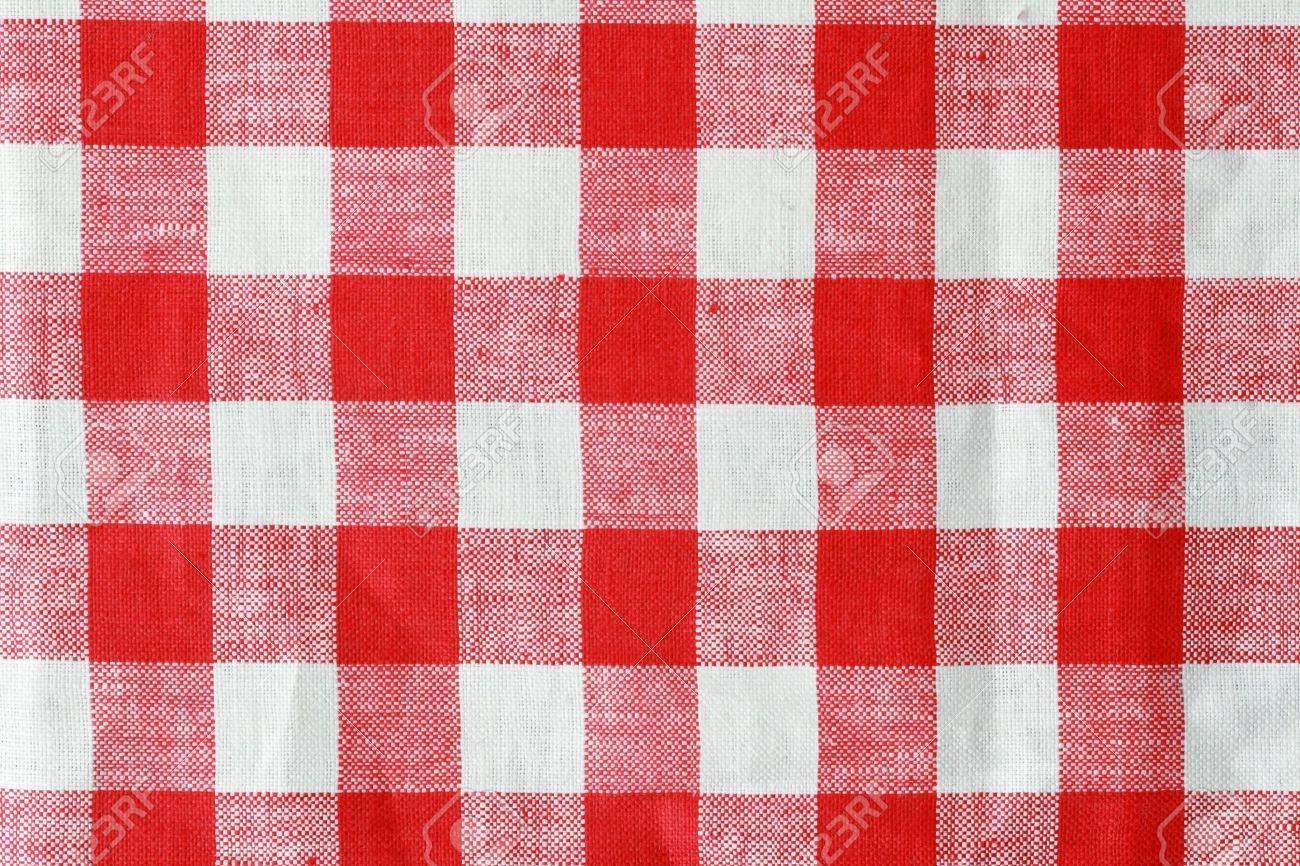 red and white checked tablecloth background texture Stock Photo - 8334315