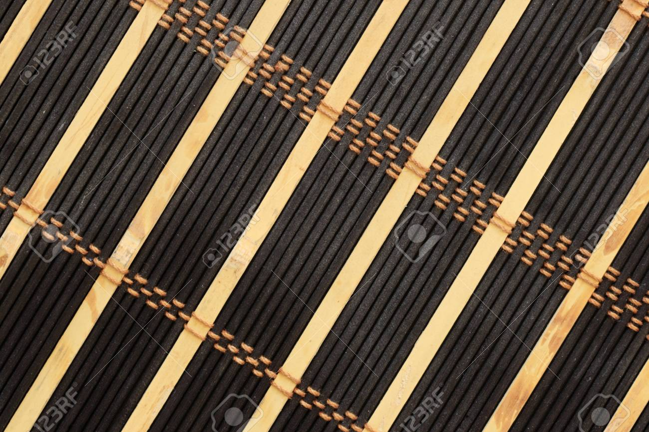 black and tan bamboo and string mat background Stock Photo - 10205058