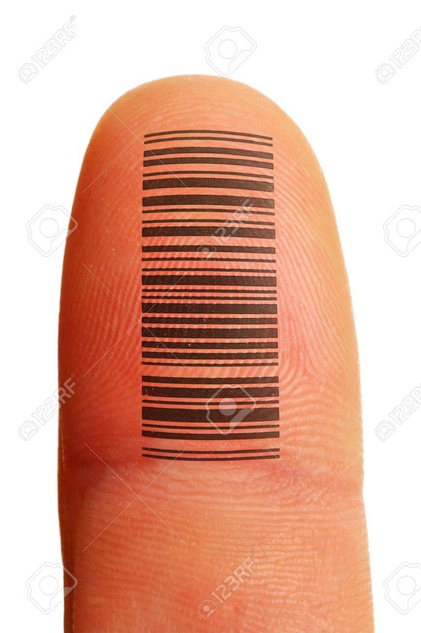 Identificación De Id De Dedo Con Huella Digital Y El Tatuaje De