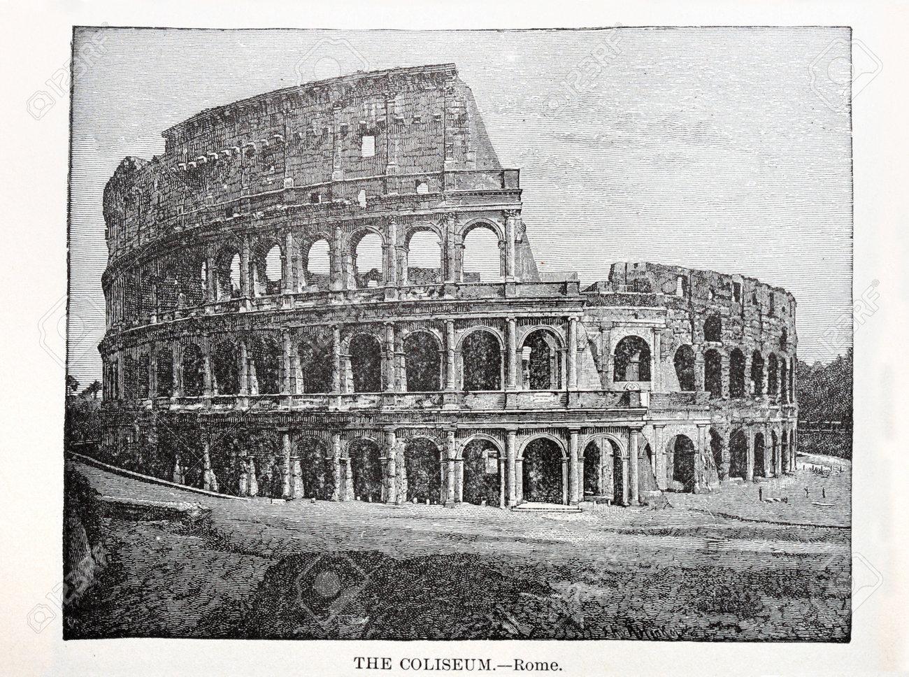 Impresión Antigua Del Coliseo Romano De Un Libro De 1896 Fotos