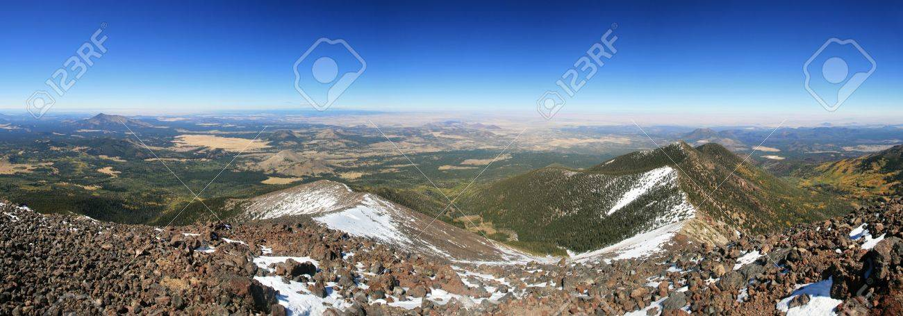 panorama from the summit of Mount Humphreys, the highest point in Arizona Stock Photo - 11454381