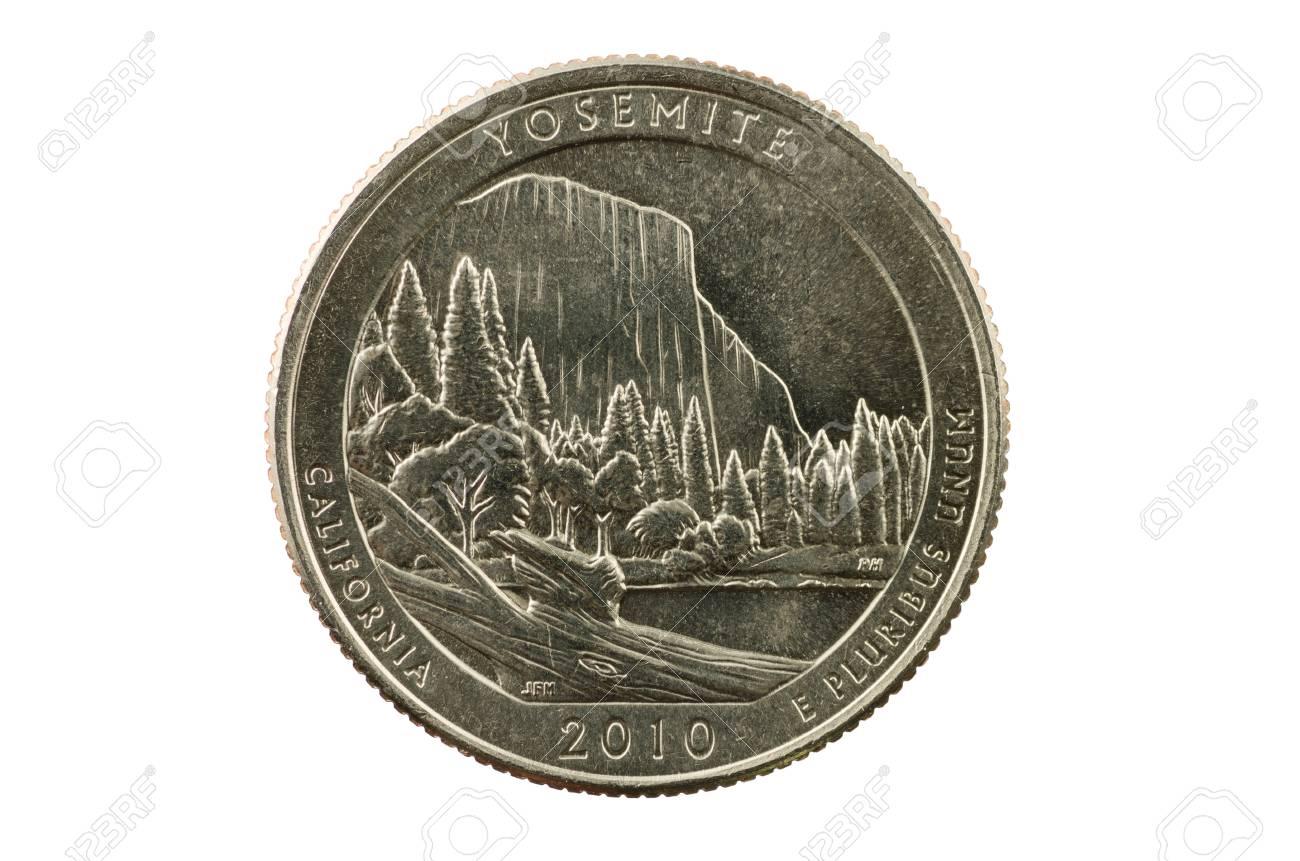 Yosemite California commemorative quarter coin isolated on white background Stock Photo - 21802961