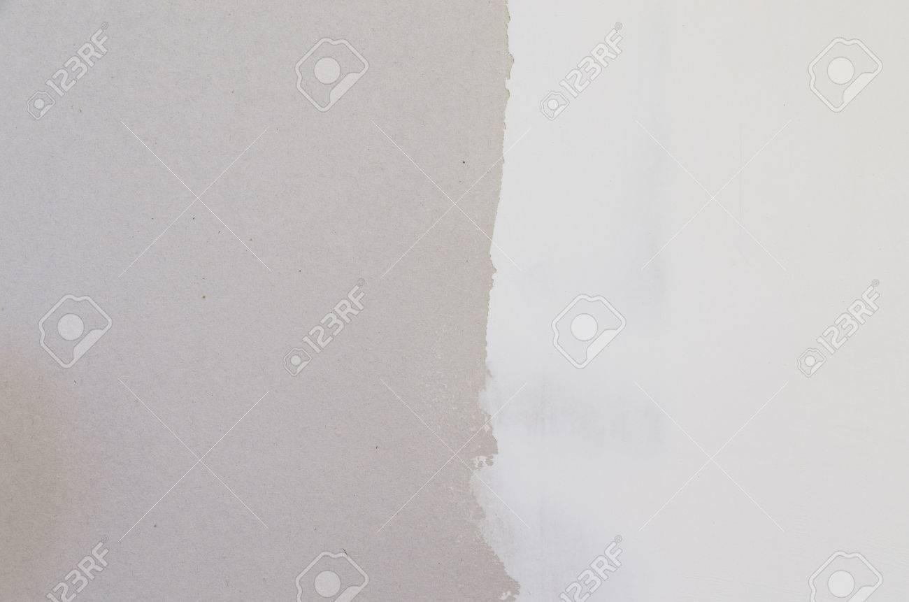 drywall with half covered with joint compound spackle background Stock Photo - 24187375