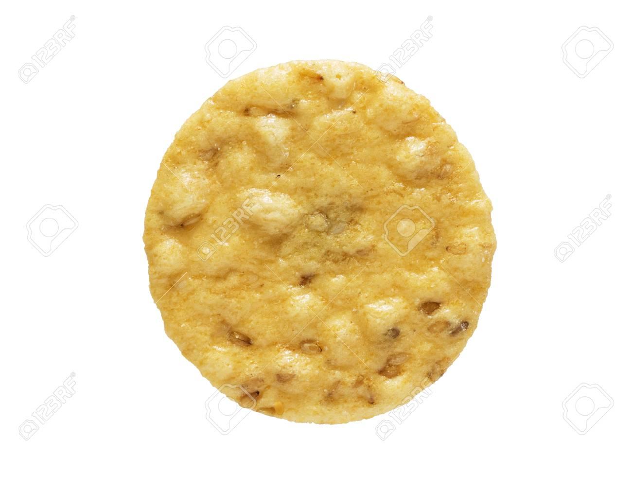 close up image of sesame cracker isolated on white background Stock Photo - 24317100
