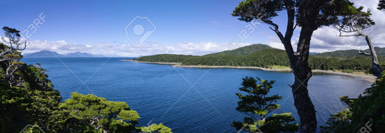 El Aguila Bay off the Strait of Magellan in Patagonia Chile Stock Photo - 25755312