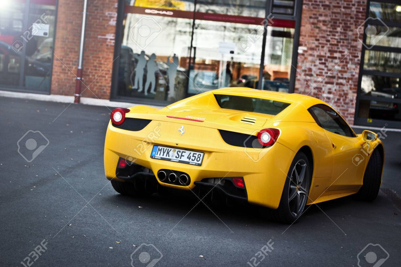 Ferrari 458 Italia Yellow Stock Photo Picture And Royalty Free Image Image 25331103