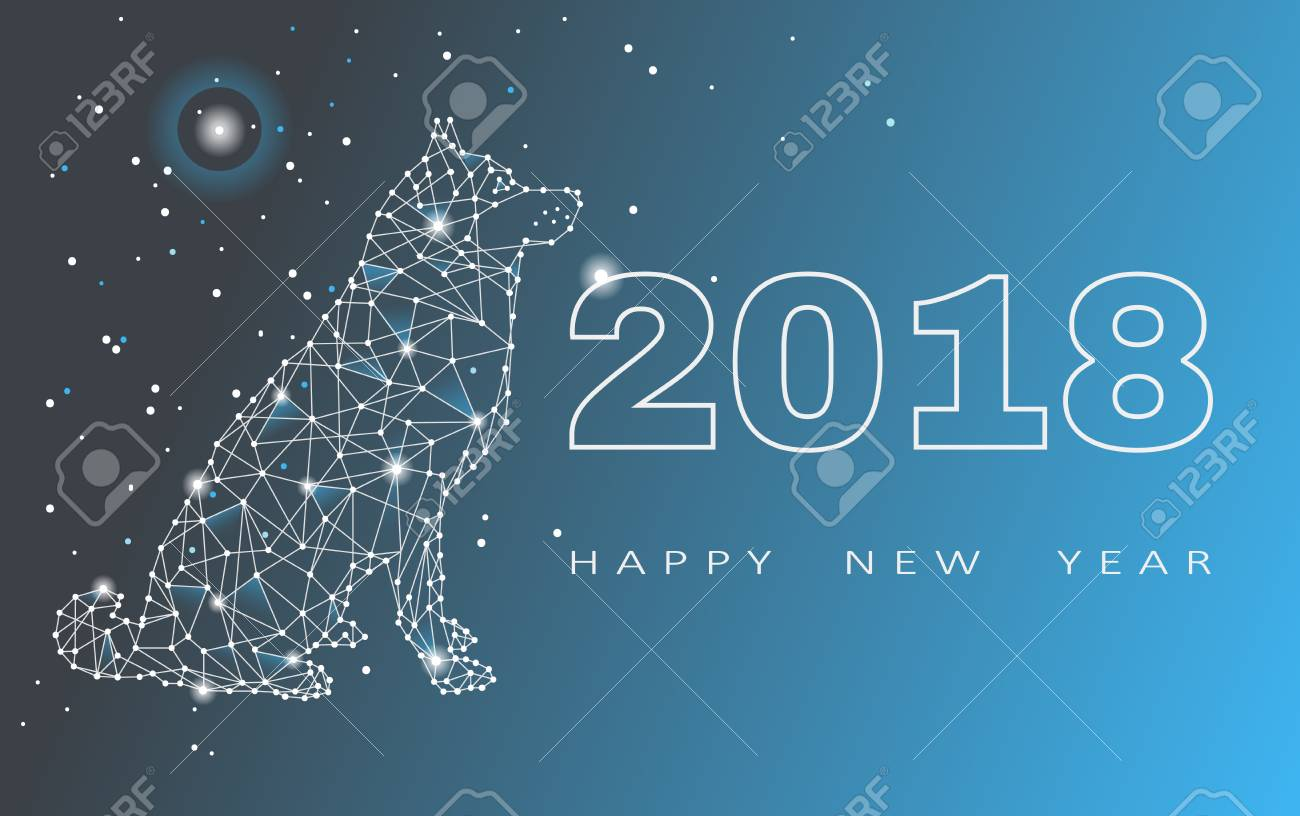 2018 happy new year greeting card celebration with dog 2018 2018 happy new year greeting card celebration with dog 2018 chinese new year of m4hsunfo