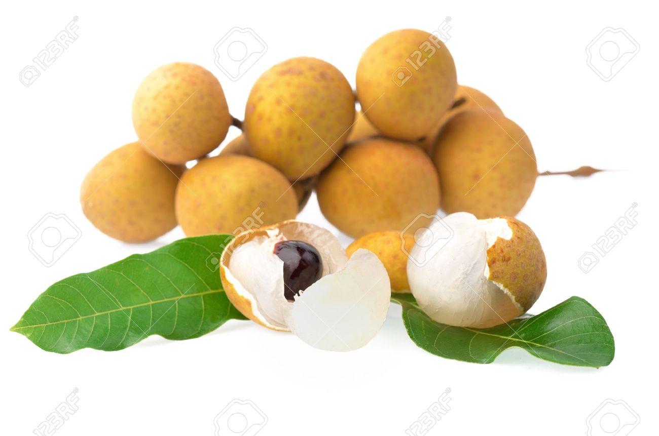 Longan Longan fruit isolated on white