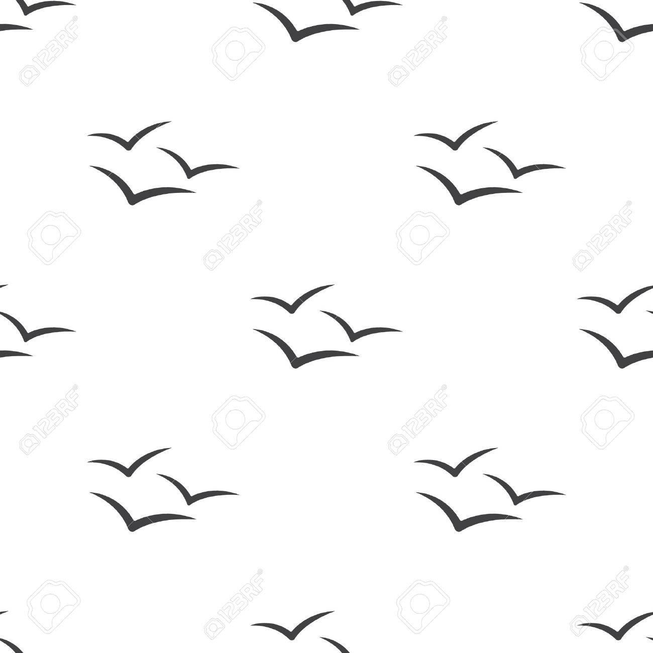 Vector illustration of Seagull icon - 47374939