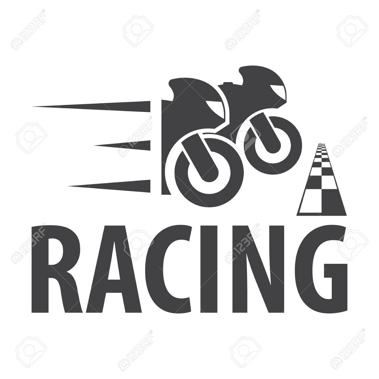 Motorcycle Racing Black Simple Icon On White Background For Web ...