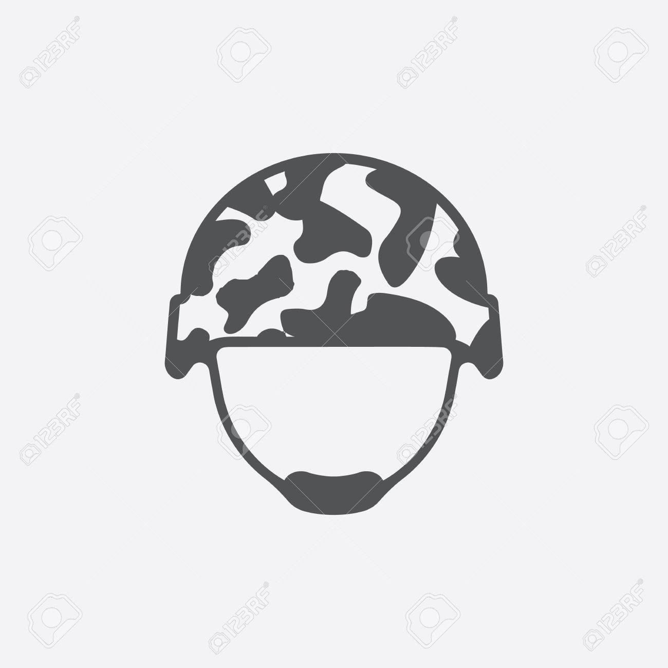 Helmet icon of vector illustration for web and mobile design - 54750740