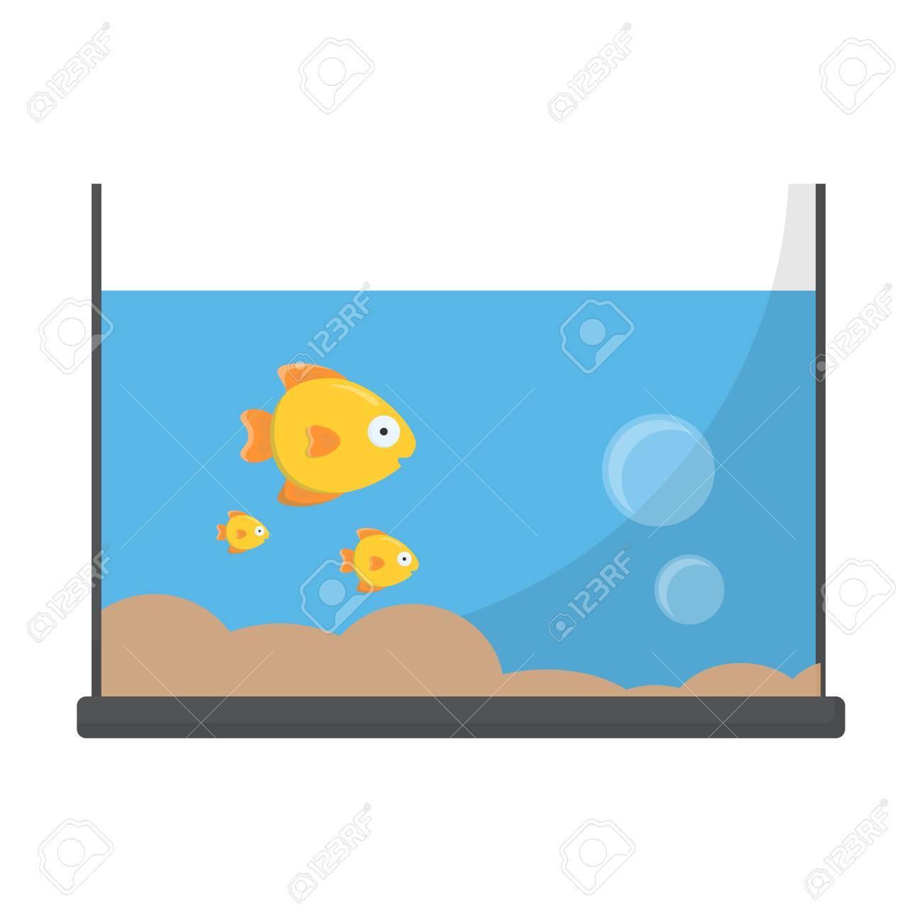 Aquarium Cartoon Icon Illustration For Web And Mobile