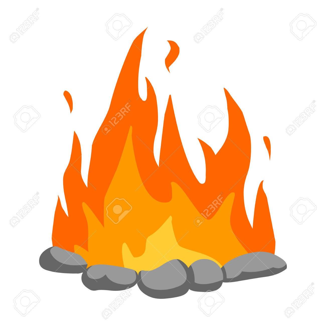 bonfire icon cartoon singe western icon from the wild west rh 123rf com cartoon bonfire images cartoon bonfire drawing