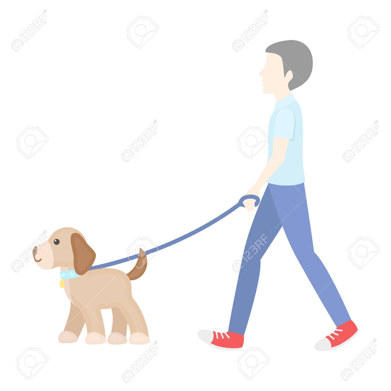 dog walk vector illustration icon in cartoon design royalty free cliparts vectors and stock illustration image 59920483 dog walk vector illustration icon in cartoon design