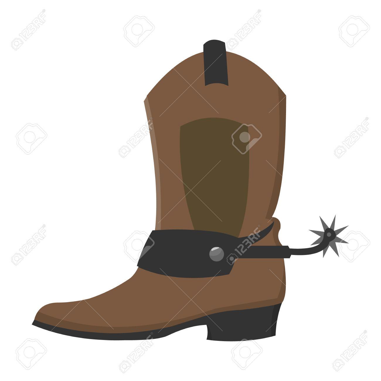 cowboy boot icon cartoon singe western icon from the wild west rh 123rf com cartoon pics of cowboy boots cartoon pictures of cowboy boots and hats