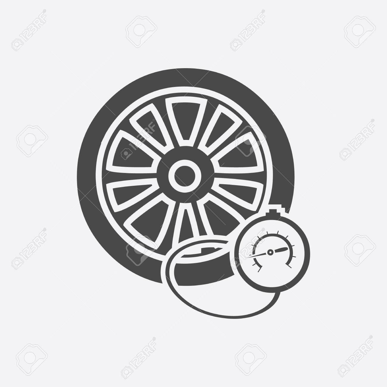 Tire Pressure Gauge Checking Tire Pressure Gauge Manometer