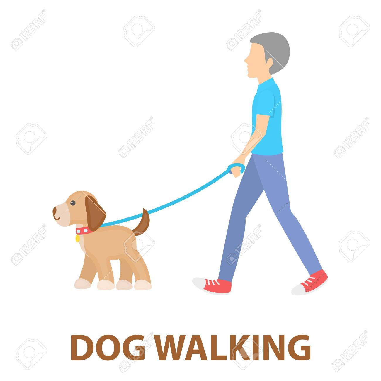 dog walk vector illustration icon in cartoon design royalty free cliparts vectors and stock illustration image 61566020 dog walk vector illustration icon in cartoon design