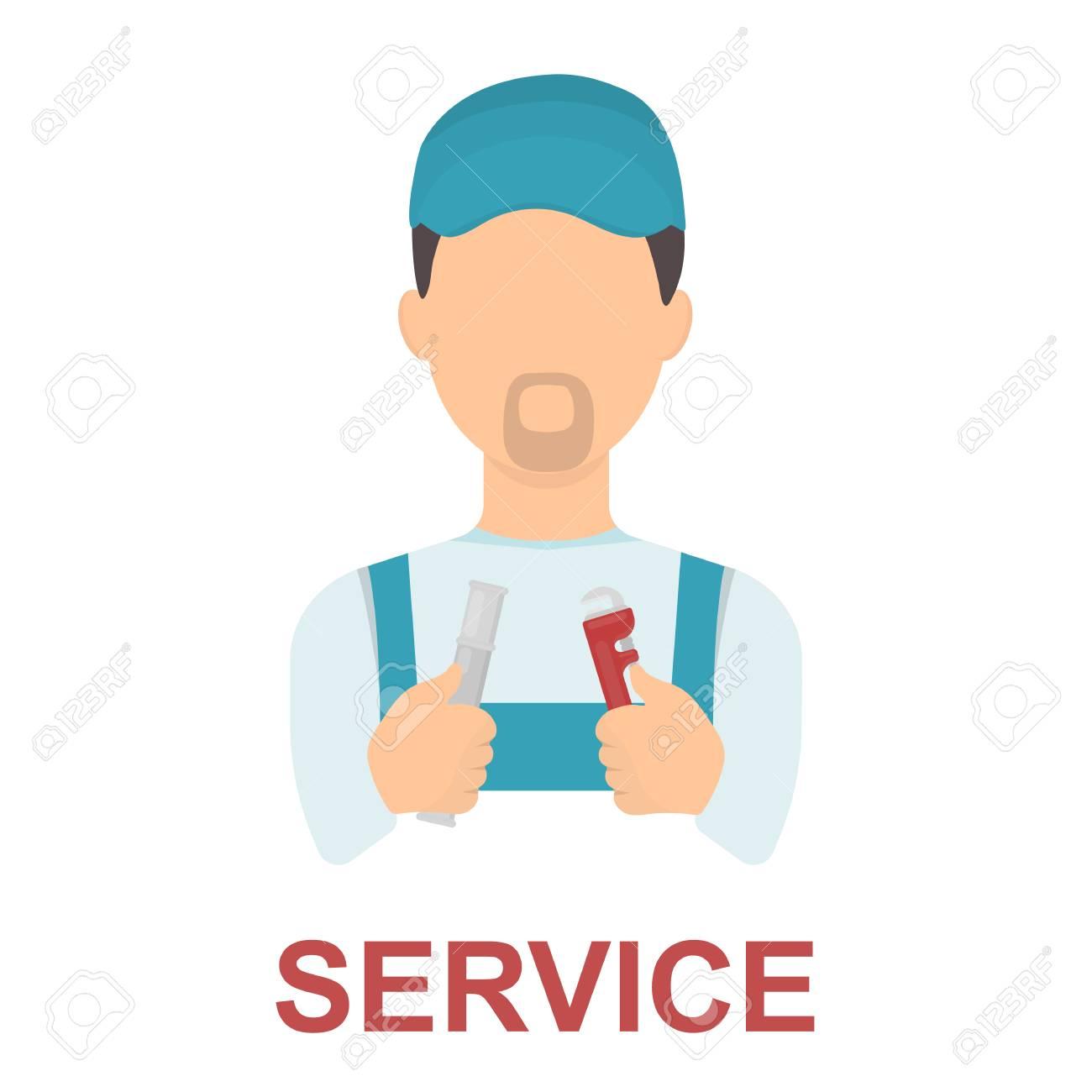 plumber icon cartoon single silhouette plumbing symbol royalty